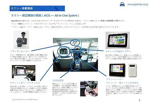 JapanTaxiはタクシーに搭載されているさまざまな機器の自社開発に取り組んでいる