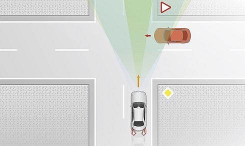 交差点での衝突回避機能が追加された「アクティブブレーキアシスト」