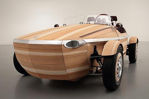 トヨタ自動車の木製のコンセプトカー「SETSUNA」