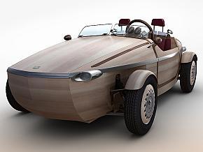 トヨタ自動車の木製コンセプトカー「SETSUNA」