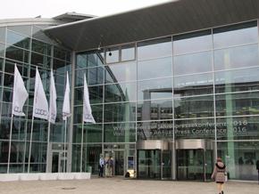 ドイツ インゴルシュタットのアウディ本社で2015年の年次会見が開かれた