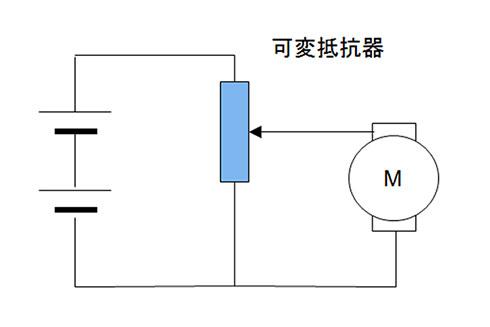 図2.可変抵抗器で電圧を調整する