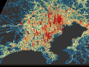 関東地方の急ブレーキ多発地点のイメージ