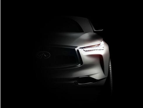 北京モーターショー2016で世界初公開するコンセプトカー「QX Sport Inspiration」のデザインの一部