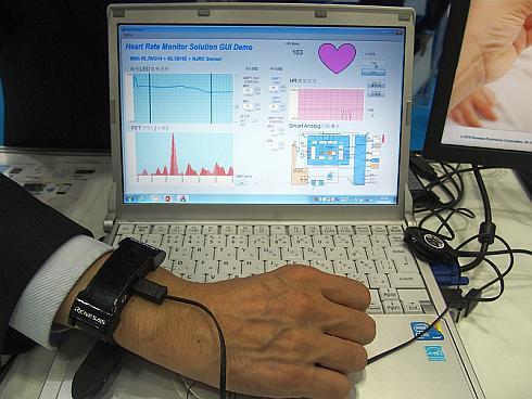 ルネサスの高精度脈拍測定ソリューションのデモ