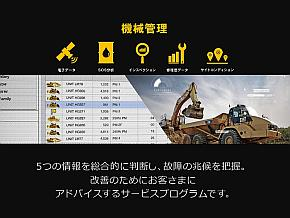 「CAT CONNECT SOLUTIONS」の機械管理