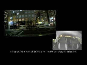メールで送信される車載カメラの画像
