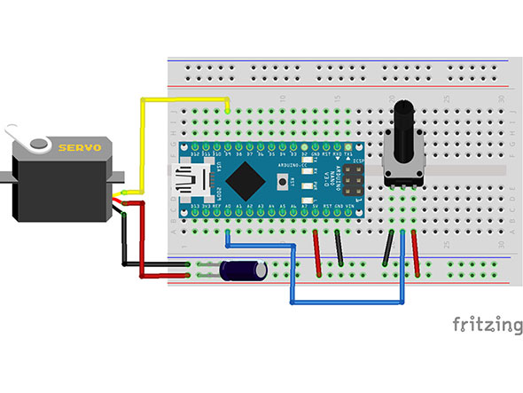 図3. 図2回路をブレッドボードに実装