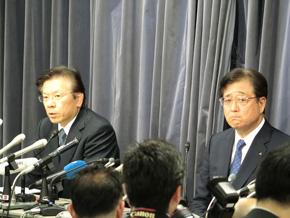 相川氏(写真左)は退任するが、益子氏は留任する