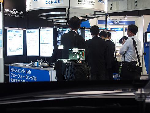 日本精機が展示したBMW「7シリーズ」に採用されたHUD