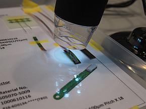 展示した「Micro Termination技術」のサンプル