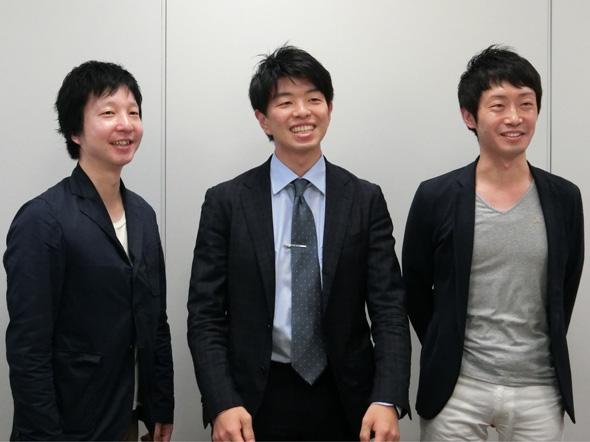写真左からSBドライブの宮田証氏、佐治友基氏、須山温人氏