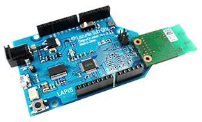 「Lazurite Sub-GHz」(写真は無線モジュール「BP3596A」装着状態)