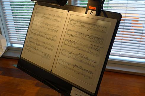 テラダ・ミュージック・スコアの電子ペーパー楽譜専用端末「GVIDO」