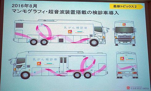 相良病院の新たな乳がん検診車