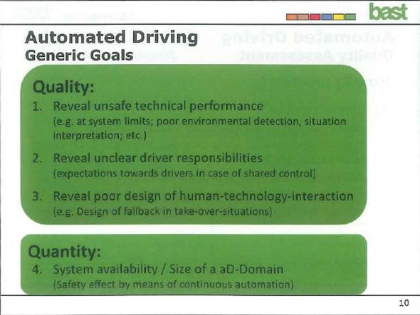 自動運転のアセスメントでは何を明らかにすべきか