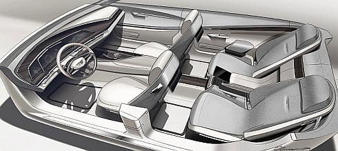 「エスカーラ」の運転席の曲線を描く3つの有機ELディスプレイ