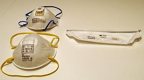 3Mの使い捨て式防じんマスク