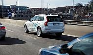 「Drive Me」で公道を走るボルボの自動運転試験車