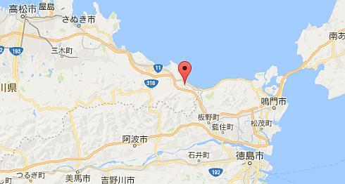 ジェイテクト香川工場の位置