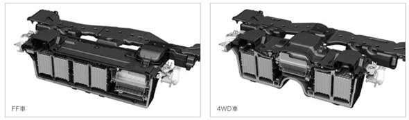 インテリジェントパワーユニットはFF用と4WD用で別設計とした