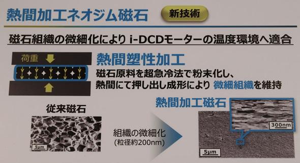 重希土類フリーのネオジム磁石は組織の微細化で耐熱性を改善