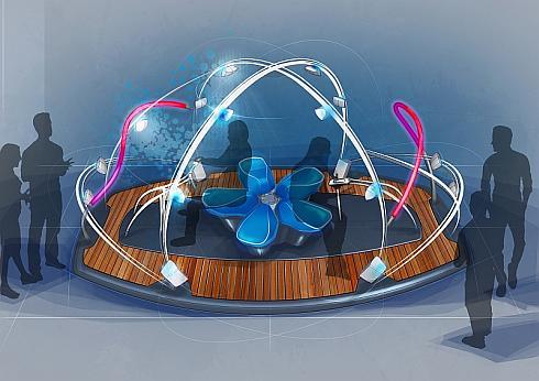 ヤマハとヤマハ発動機が共同でデザインした音響装置「&Y02」