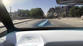 AR(拡張現実)のヘッドアップディスプレイや電子ミラーなど、さまざまな技術も盛り込んでいる