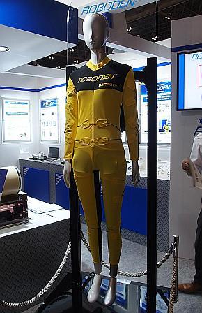 スマートウェアの配線としての「ロボ電」の適用イメージ
