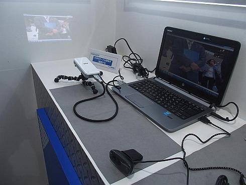 「ロボ電」を使ったHDMIケーブルの通信デモ