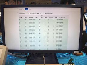 既に設置されているEXBeaconのステータスがリモートで取得できている