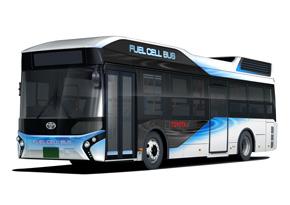 2017年から販売する燃料電池バス「トヨタFCバス」