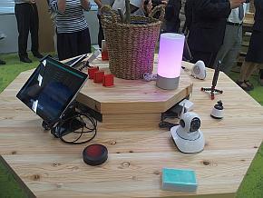 イフラボに展示されているIoT機器