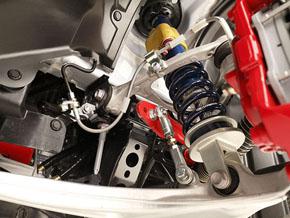 ワンメイクレースの指定部品である車高調整機構付きサスペンション