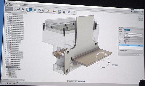 「Fusion 360」における板金設計のイメージ