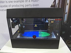 「Project Escher」を適用した市販デュアルヘッド3Dプリンタ