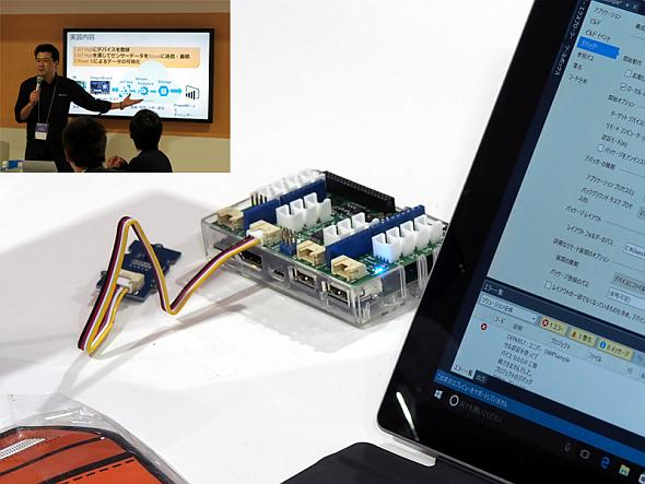 「IoT開発体験ラボ」では30分でIoTの実装プロセスを体験できる
