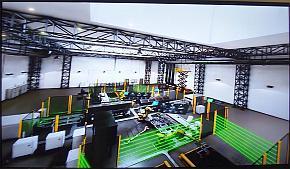 「工場の製造ライン設計のシミュレーター」のイメージ