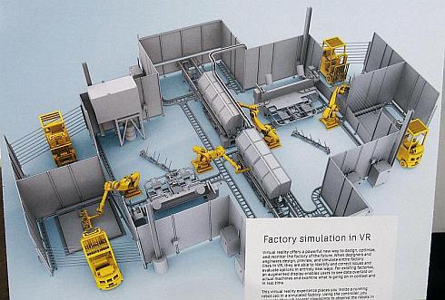 デモ内における工場の全体図