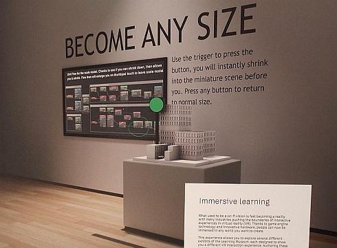 「VR空間における体験学習のデモ」のイメージ