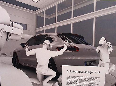 「VR空間で複数人が同時参加できる自動車のデザインレビューのデモ」のイメージ