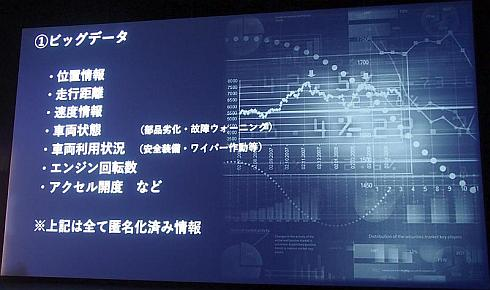 「ビッグデータ」で提供可能な情報の例