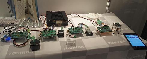東芝マイクロエレクトロニクスの「IoT-Engine」のデモ