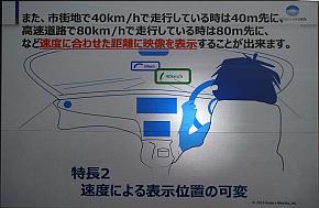 速度を示すメーターのAR表示の位置を変えるデモのイメージ