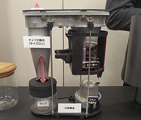 スマートコーヒー焙煎機の実際の構造