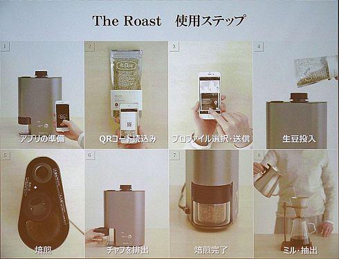 スマートコーヒー焙煎機の利用の流れ
