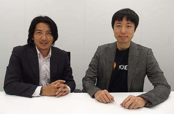 SCSKで「VRED コラボレーションシステム」を担当する岸元睦氏(左)と阿部大如氏(右)