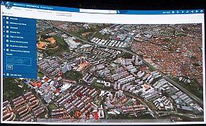 「3Dエクスペリエンスプラットフォーム」で行っているシンガポールの都市設計のイメージ
