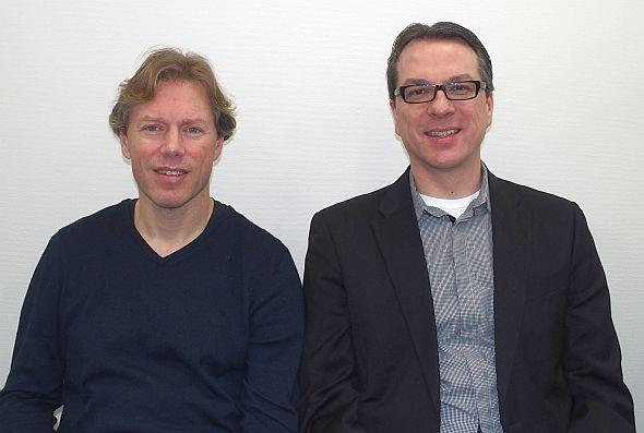 The Qt Companyのラース・ノール氏(左)とユアペッカ・ニエミ氏(右)