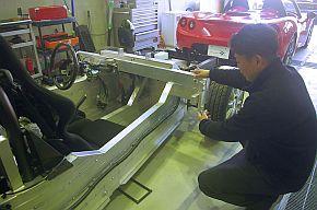 オリジナルのバスタブ構造シャシー